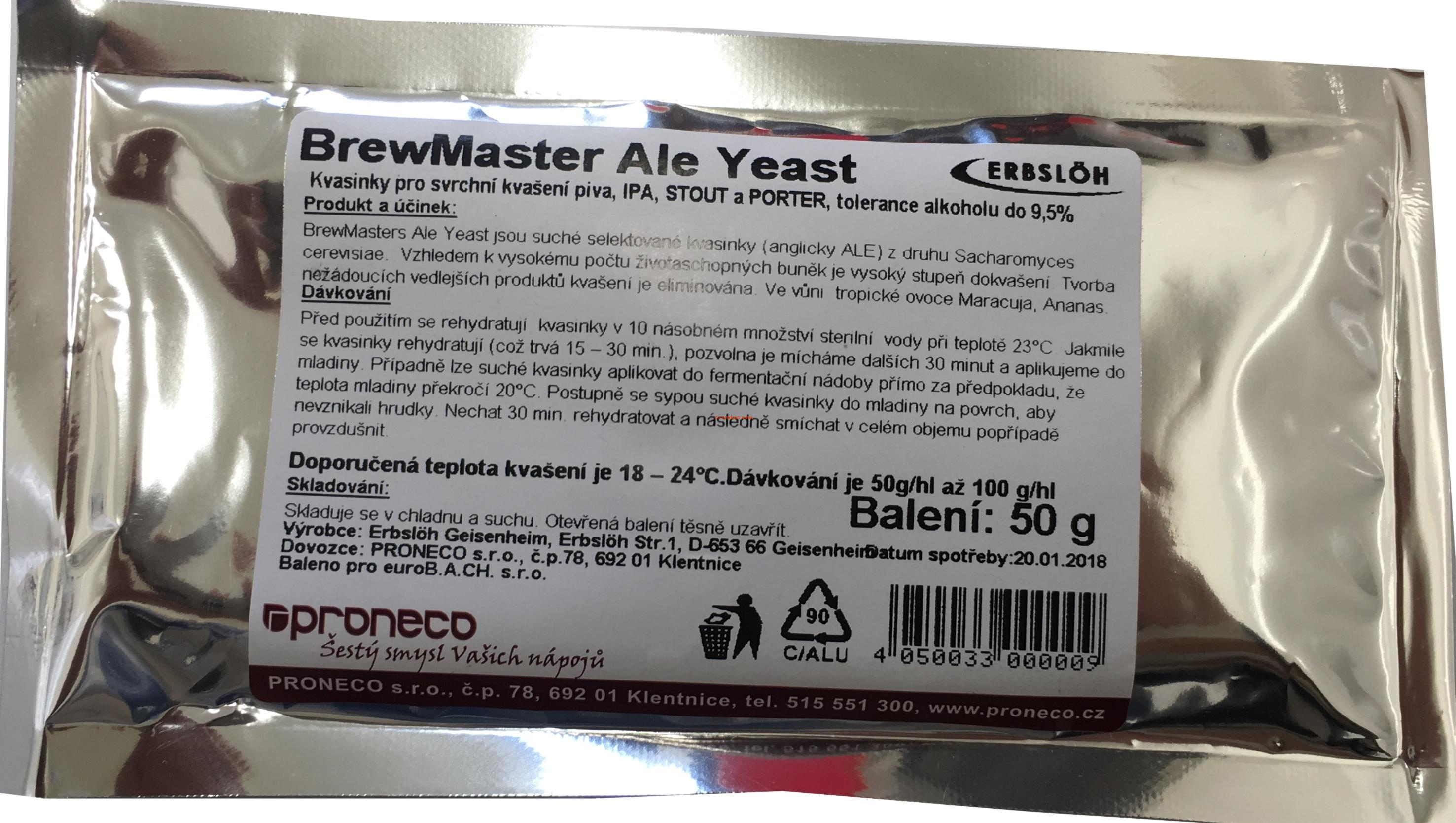 Brewmaster Ale Yeast 50g