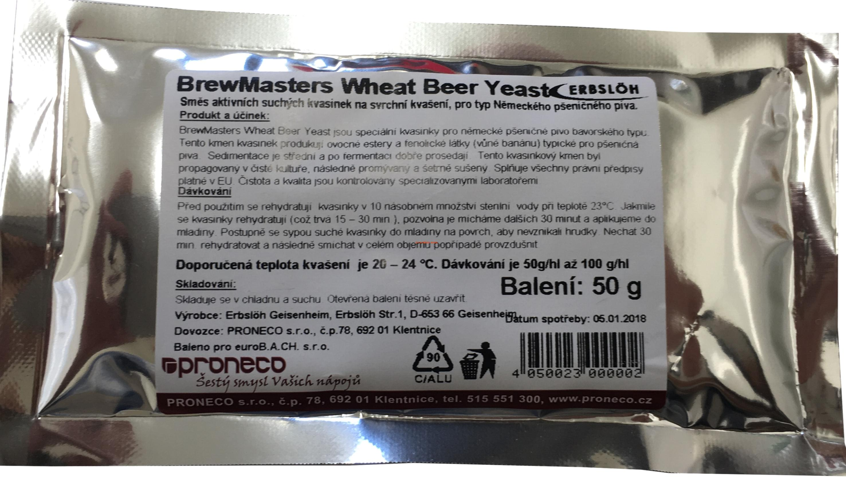 Brewmaster Wheat Beer Yeast 50g
